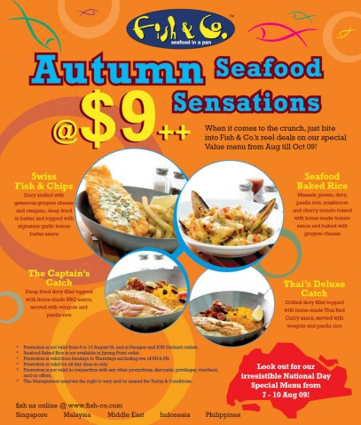 Fish & Co. $9 Autumn Seafood Sensations