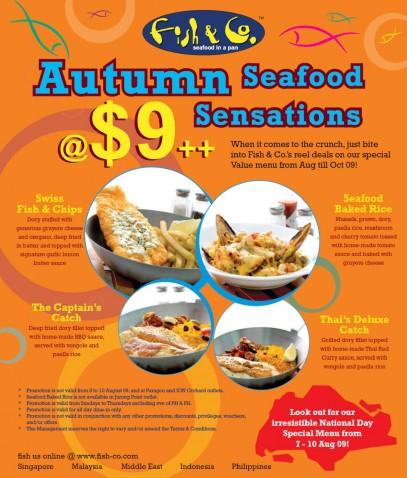 Fish & Co. $9 Autumn Seafood Sensations