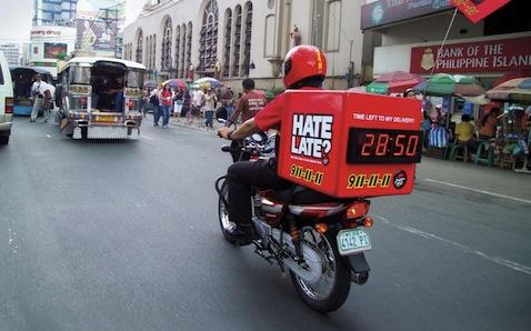 Pizza Hut Bike Clock