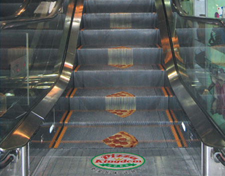Pizza Kingdom Escalator Advertisement