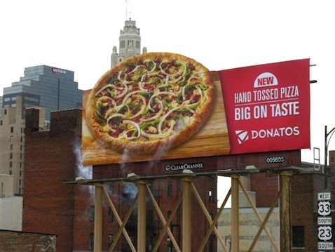 Steaming Pizza Billboard