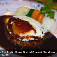Hamburger Steak with House Special Sauce