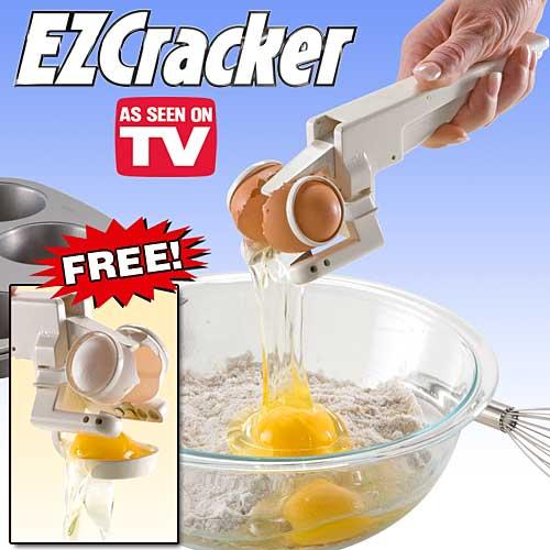 EZ egg cracker