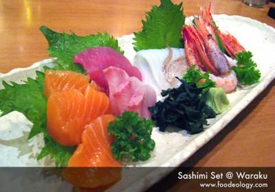 sashimi set waraku