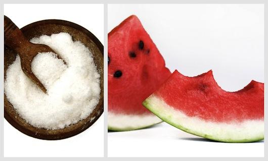 salt and watermelon