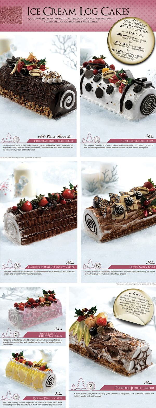 Swensen's Ice cream cakes 2010