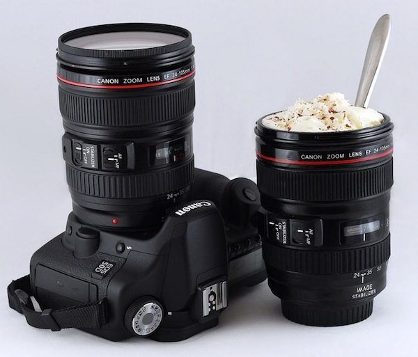 lens coffee cup