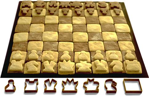 Chess pastry cutters