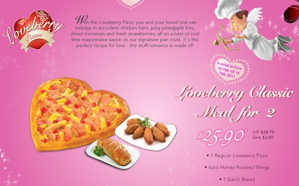 Pizzahut Valentine's Day Menu