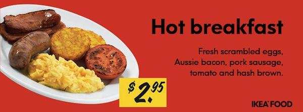 IKEA Richmond Hot Breakfast