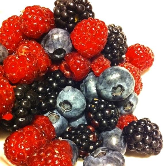 Raspberries, blueberries, blackberries