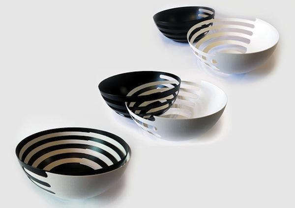 ECLIPSE Steel fruit bowls