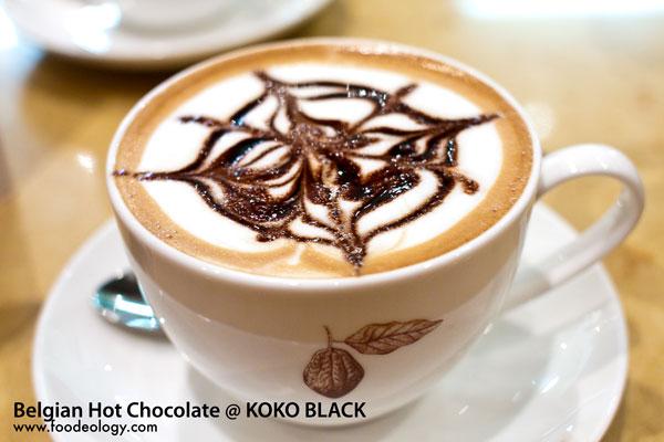 Belgiam Hot chocolate koko black
