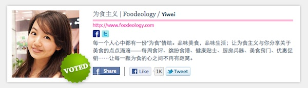 vote for foodeology