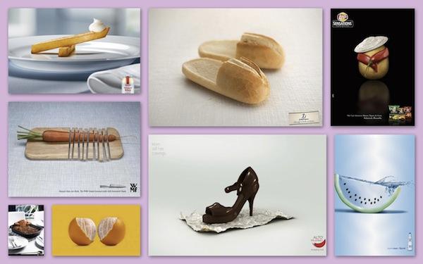 creative ads featuring cute food