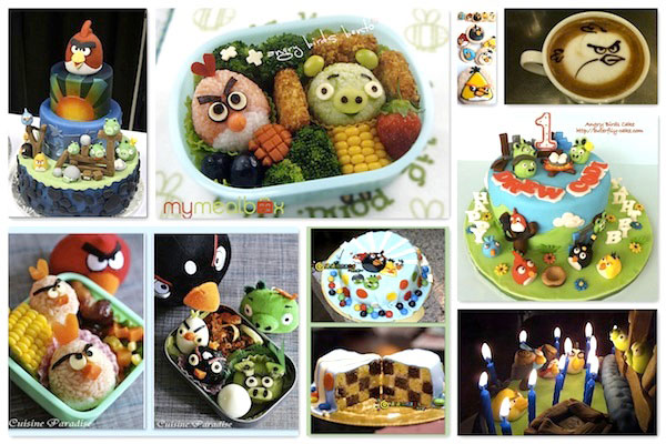 food related to angry birds