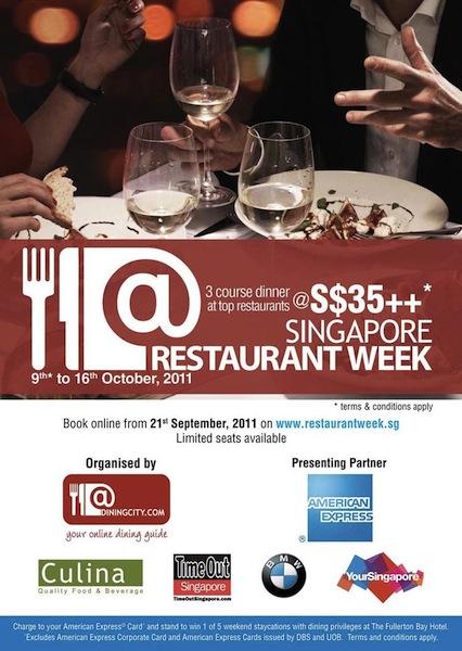 singapore restaurant week 9-16 oct 2011
