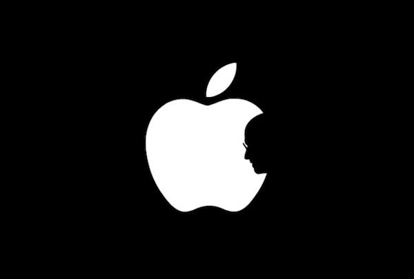 apple logo with jobs
