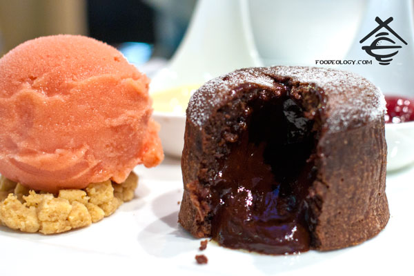 Dark-Chocolate-Lava-Cake-with-Blood-Orange-Sorbet