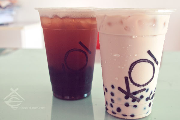 KOI Red Milk Tea and Plum Black Tea