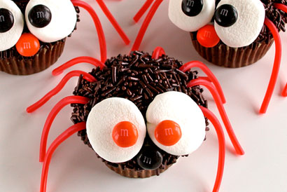 Spider Cupcakes From Bright Ideas
