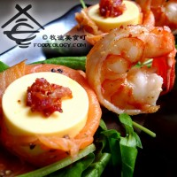 simmered-prawn-with-smoked-salmon